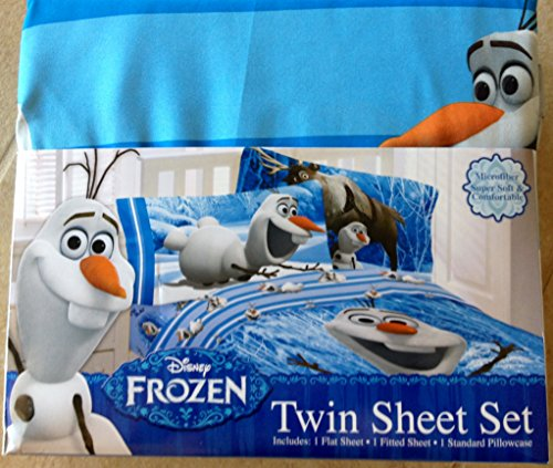Sale!! Disney Frozen Olaf Twin Sheet Set