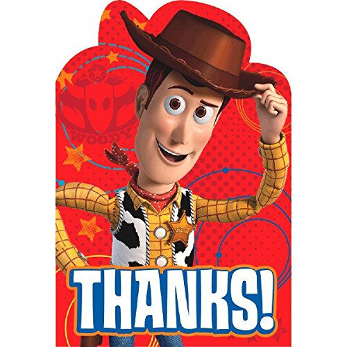 Toy Story Birthday Card (Amscan Toy Story Power Up Birthday Party Postcard Thank You Cards Kit (8 Pack), 6