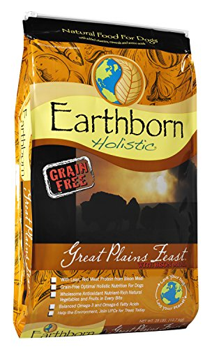 Price comparison product image Earthborn Holistic Great Plains Feast Grain-Free Dry Dog Food, 28-Pound Bag