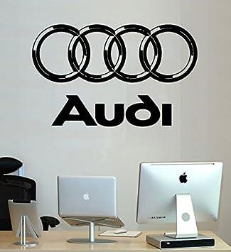 Amazoncom Audi Wall Decals Vinyl Sticker Emblem Logo Decal - Custom vinyl wall decals for garage