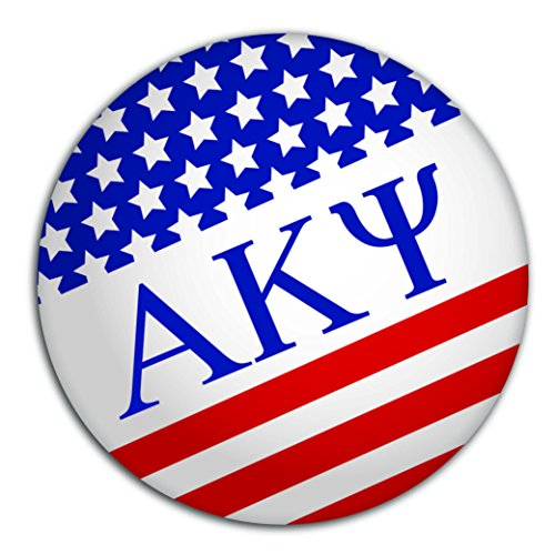 Alpha Kappa Psi Fraternity Circle USA with Letters Sticker Decal 3 Inch Greek for Window Laptop Computer Car (Stained Glass Name Tags)