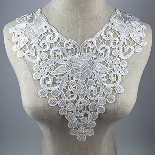 1 White Embroidery Collar Trims Appliques (Color B)
