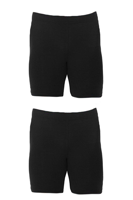 Men's Extreme Core-Champion True Double Dry Compression Short (Small, 2 Pack Black/Black)