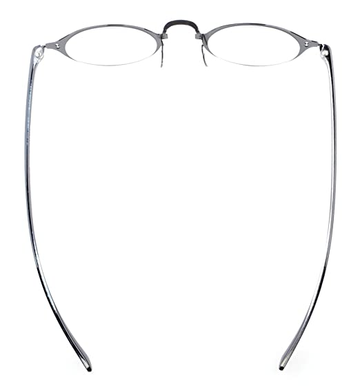 9c21e1815a5 Amazon.com  Eyekepper Lightweight Flex Round Reading Glasses Unique Stylish Crystal  Clear Vision Black +1.5  Health   Personal Care