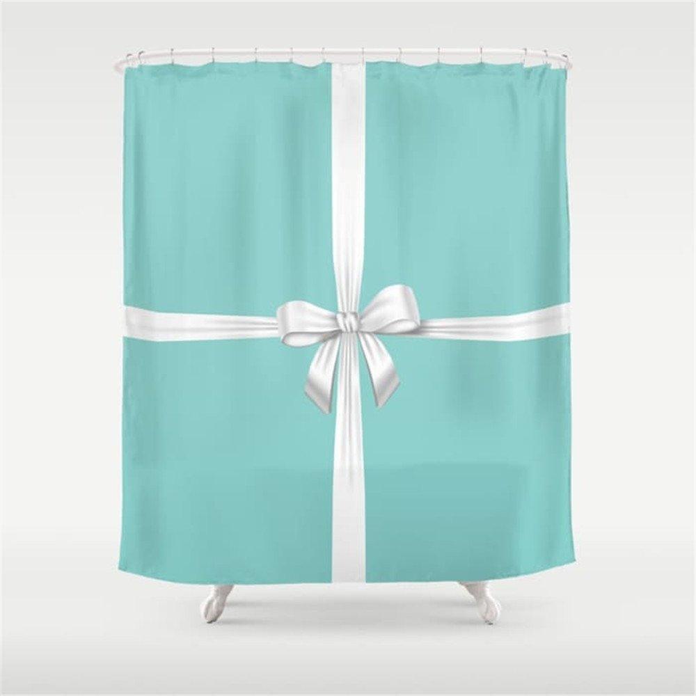 Amazon Weeya Blue Ribbon Shower Curtain 60 X 72 Inch Home Kitchen