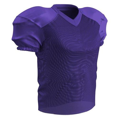 Football Jersey Purple - CHAMPRO Stretch Polyester Practice Football Jersey, Purple, 3X-Large