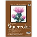 Strathmore 400 Series Cold Press Wire Bound Watercolor Pad 9 x 12 Inches (ST440-1)
