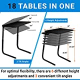 Table Mate II Folding TV Tray Table and Cup