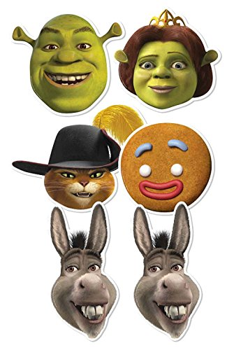 Star Cutouts SMP353 Shrek Cardboard Mask (Pack of -