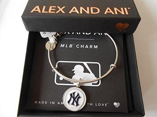 Alex and Ani Color Infusion New York Yankees Rafaelian Silver