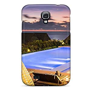 New GmUCoZW1402bbgWG Sunset Pool In Fiji Skin Case Cover Shatterproof Case For Galaxy S4