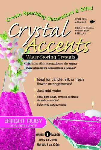 Crystal Accents CA-25B Bright Ruby 1-Ounce Bag