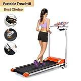 Professional Electric Treadmill Mini Folding Treadmill Running Training Fitness Treadmill for Home Office US STOCK (orange)