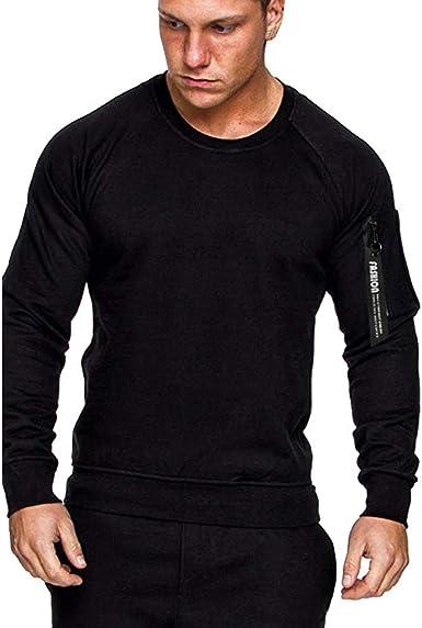 QUHS Mens Oversize Classics Printed Hooded Pullover Sweatshirt Top