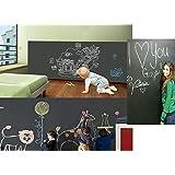 Duofire (Black,43*200 CM) Peel and Stick Blackboard Sticker Memo Removable Vinyl Chalkboard Wall Sticker