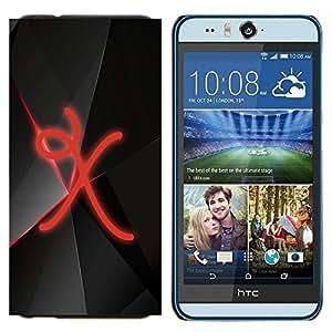 TECHCASE---Cubierta de la caja de protección para la piel dura ** HTC Desire Eye ( M910x ) ** --X