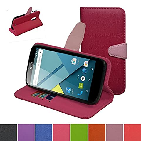 BLU Studio G Case,Mama Mouth [Stand View] Folio Flip Premium PU Leather [Wallet Case] With Built-in Media Stand ID Credit Card / Cash Slots and Inner Pocket Cover Case For BLU Studio G D790u, Rose (Phone Wallet For Blu Studio Phone)