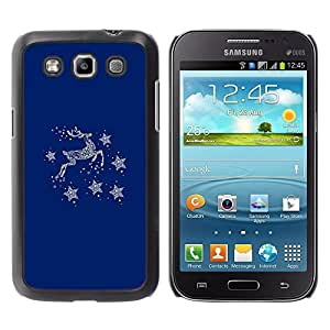 Be Good Phone Accessory // Dura Cáscara cubierta Protectora Caso Carcasa Funda de Protección para Samsung Galaxy Win I8550 I8552 Grand Quattro // Blue Deer Winter Stars Minimalist