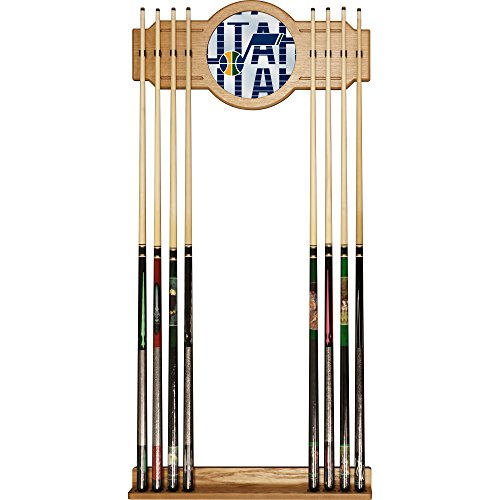 Trademark Gameroom NBA6000-UJ3 NBA Cue Rack with Mirror - City - Utah Jazz by Trademark Global