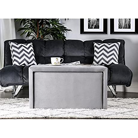 Furniture Of America Cole Contemporary 4 Piece Nesting Bench And Ottoman Set GREY Grey Finish