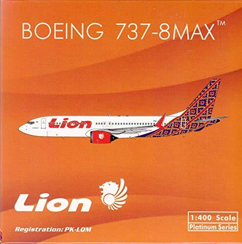 Phoenix Model PHX11493 1:400 Lion Air Boeing 737-8 Max (Batik Tail) Reg #PK-LOM (pre-Painted/pre-Built) ()