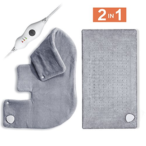 Ultra Soft Heating Pad for Back and Shoulder, Fast Heating w