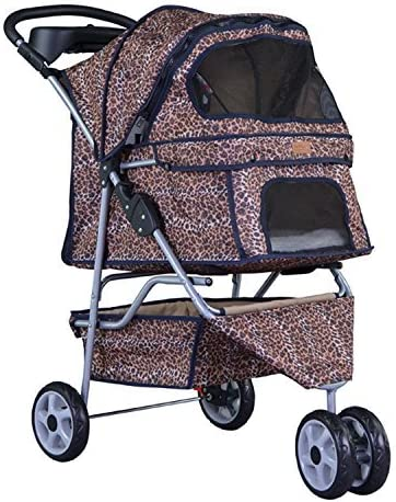 BestPet New 3 Wheels Pet Dog Cat Stroller w RainCover
