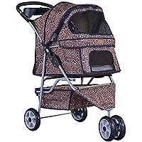 New BestPet 3 Wheels Pet Dog Cat Stroller w/RainCover