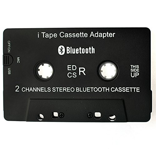 Car Bluetooth Audio Cassette Adapter/Bluetooth Music Receiver for Cassette Decks Work While Charging by B&W Pattern (Image #3)