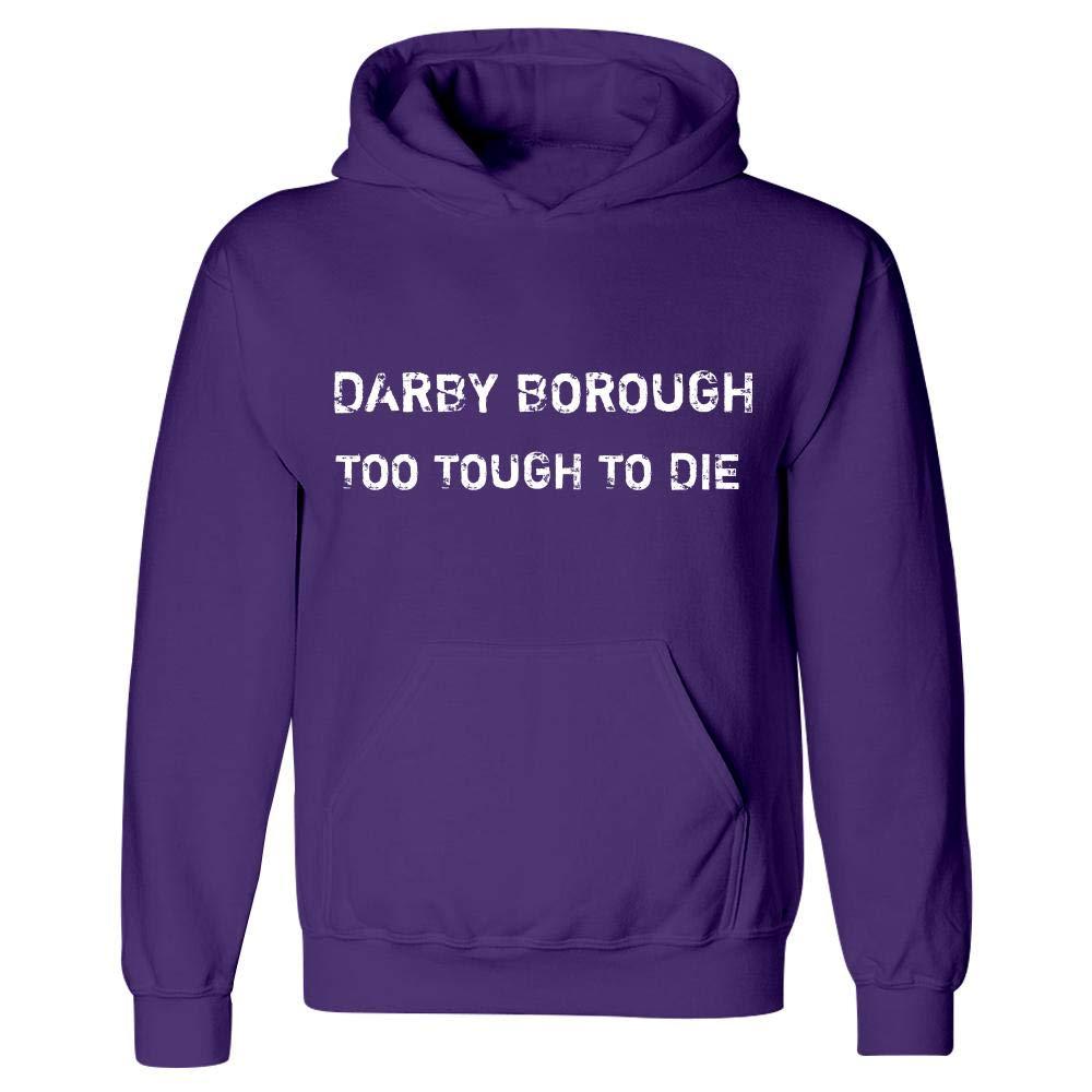 Hoodie Purple MESS Darby Borough Too Tough to Die