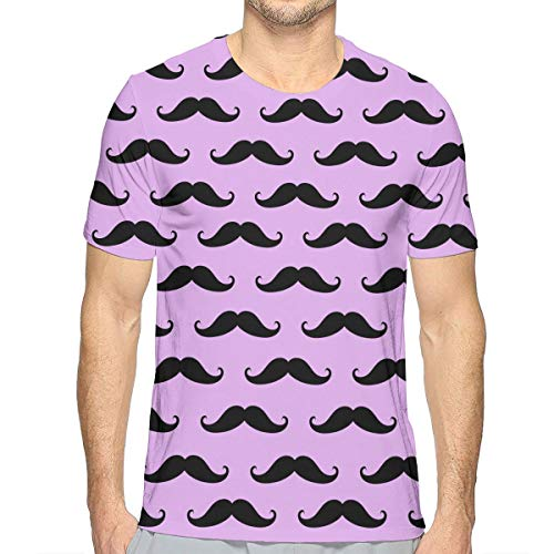 Mens Essential T-Shirt Tees Baseball Shirts for Exercise Surf GameFast Dry, Short Sleeve Premium Fitted Shirts Daily Wear for Mens Boys Youth, Cute Cartoon Mustache]()