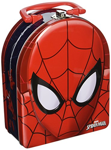 - The Tin Box Company Spider-Man Head Shaped Tin Carry All with Handle