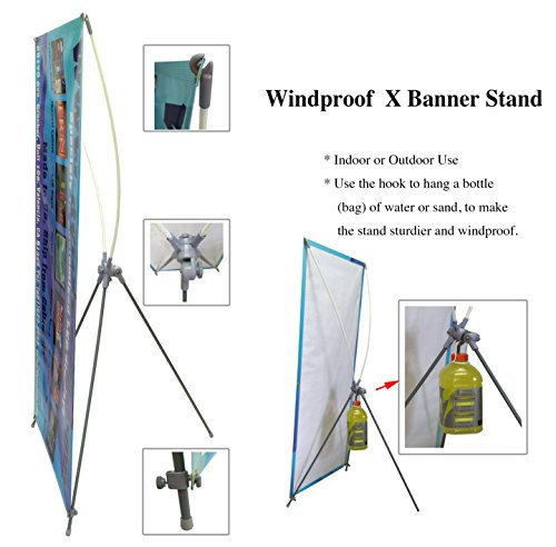 TheDisplayDeal Outdoor use X Stand for Grommeted Banners (31