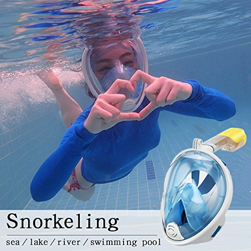 Easy Breath Surface Scuba Mask Full Face Design For Action Camera (Black) - 8