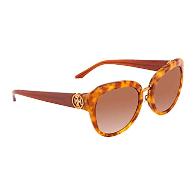 f50259eff287 Amazon.com: Tory Burch Women's 0TY7124 56mm Amber Tortoise/Brown  Gradient/Dark Brown One Size: Clothing