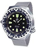 Big size 52mm case diver watch - Milanaise steel strap T0265-MIL