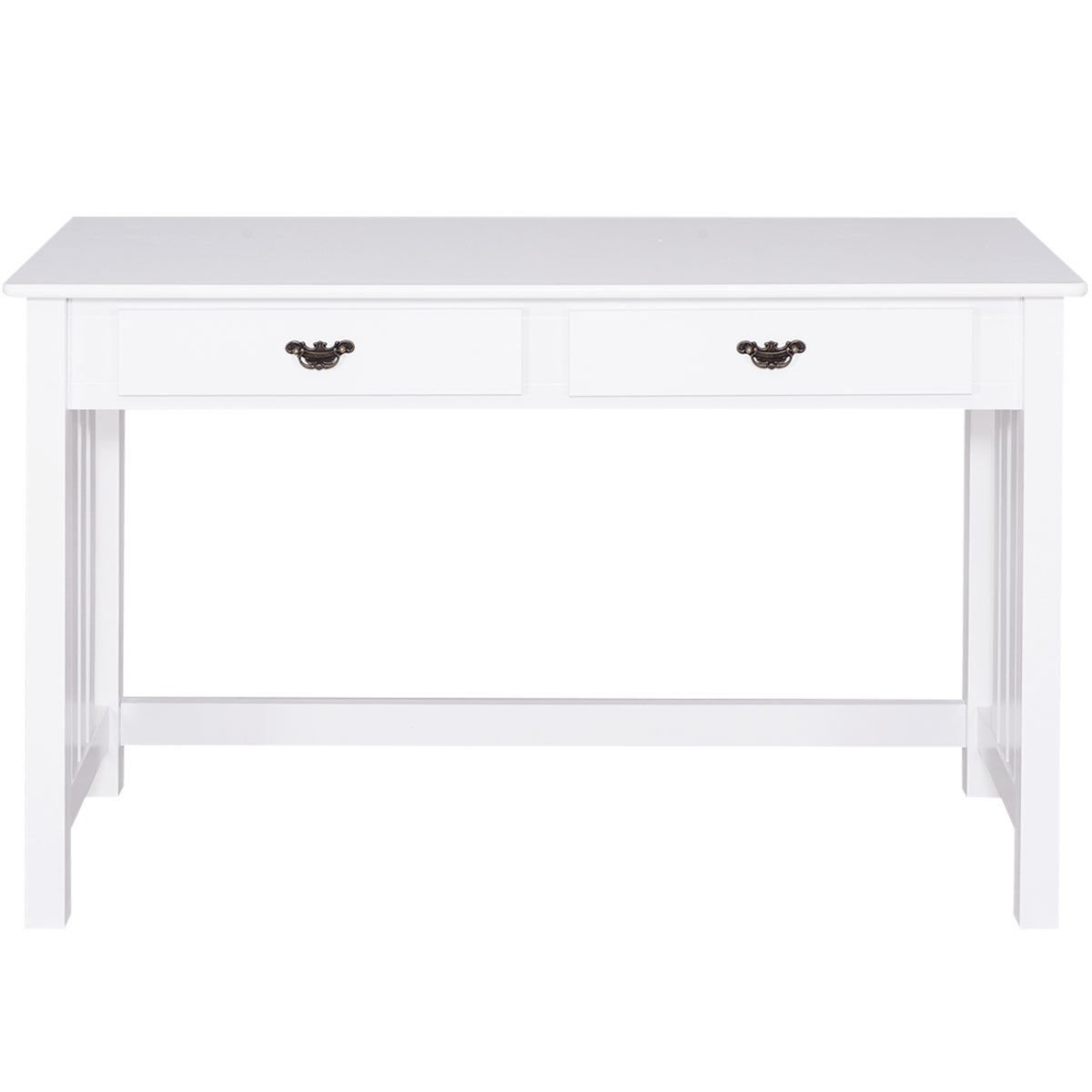 Giantex Writing Desk Mission White Home Office Computer Desk 4 Drawer White