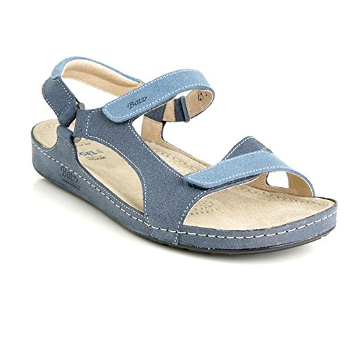 Batz Sandals Backstrap Summer Ladies Quality High Womens Tara Leather Blue rnwx4Br8Rq