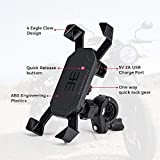 Motorcycle Phone Mount Holder with USB Charger Port