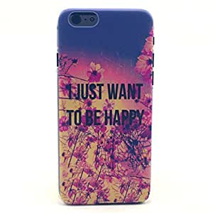 iPhone 6 Case, iPhone 6 (4.7 Inch) Case - LUOLNH Fashion Style Colorful Painted Just Want to Be Happy Pattern Clear TPU Silicone Gel Back Cover Skin Soft Case for iPhone 6 ¡ê¡§4.7 Inch¡ê? by supermalls