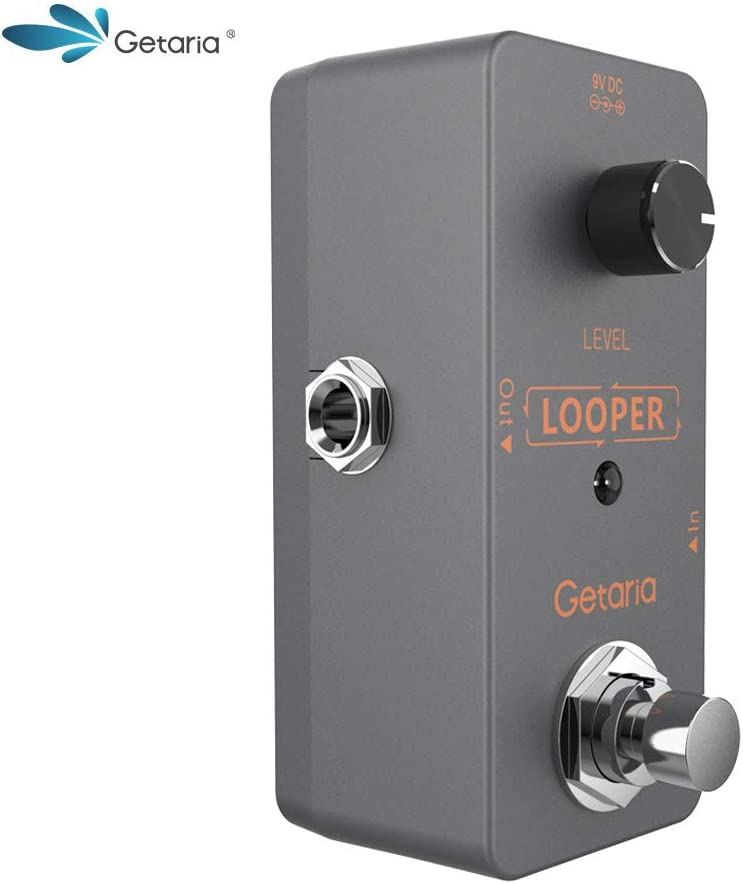 Getaria Electric Guitar Looper Effects Pedal Bypass Unlimited Overdubs Loop Station (Mini-loop-8)