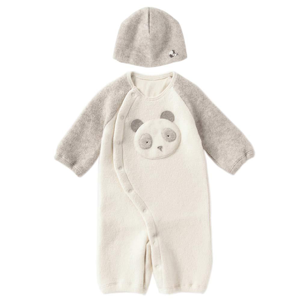 パンダマーブル 2WAYドレス帽子セット:ヤク&オーガニックコットン   B07HSZV143