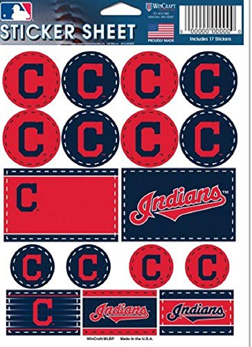Wincraft MLB Cleveland Indians Vinyl Sticker Sheet, 8.5