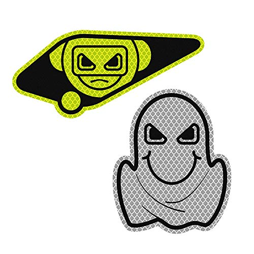 3M 2Pcs Reflective Sticker Warning Strip Decals Safety -Snooping and Peep (Fluorescent Green & - Ghost Paint Flame