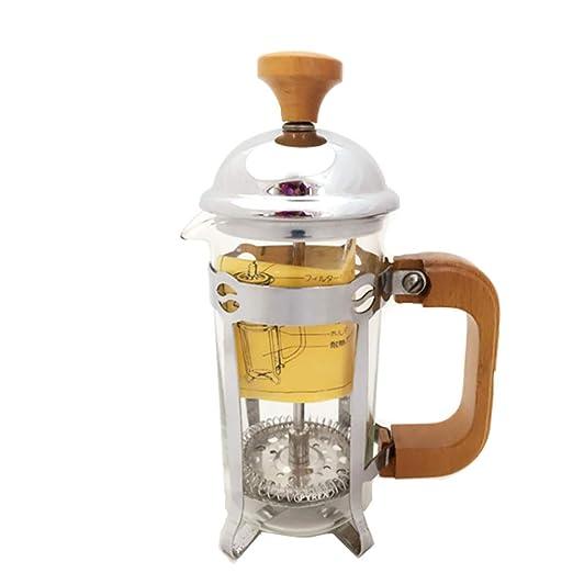 SAUY Cafetera Vidrio Resistente al Calor a Fuego de té con colador ...