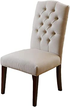 Amazon Com Christopher Knight Home Crown Fabric Dining Chairs 2 Pcs Set Off White Chairs