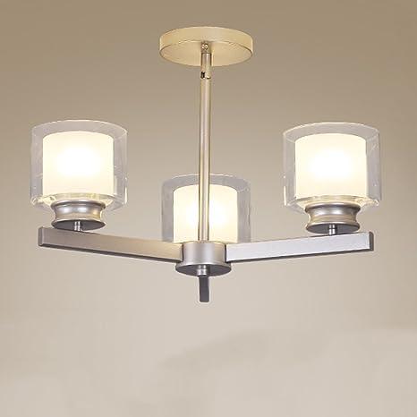 Minimalista doppio vetro Art E27 lampada a sospensione, camera da ...