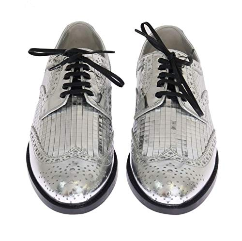 Calf Silver up Dolce Leather in Lace Gabbana Model Women's amp; 80998 CN0012 Silver AE704 Number CYqxwxfZ0