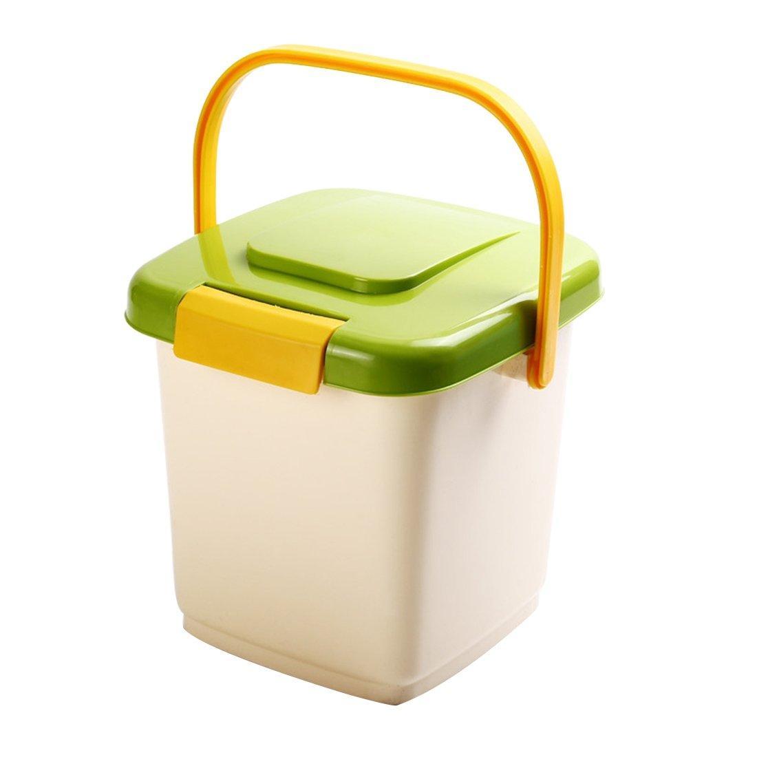 Zhaoke Aufbewahrungsbox für Tierfutter aus Kunststoff(PP), mit Tragegriff Deckel und Schaufel, für circa 10L Trockenfutter