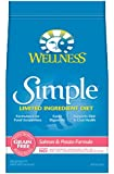 Wellness Simple Limited Ingredient Diet Grain Free Salmon & Potato Natural Dry Dog Food, 24-Pound Bag